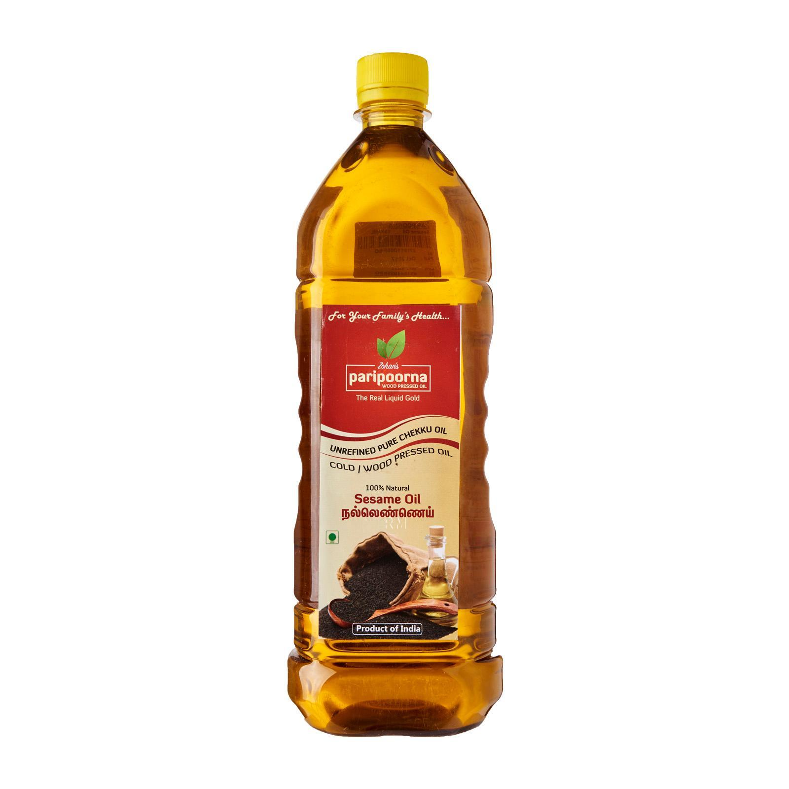 Paripoorna Wood / Cold Pressed Sesame Oil By Redmart.