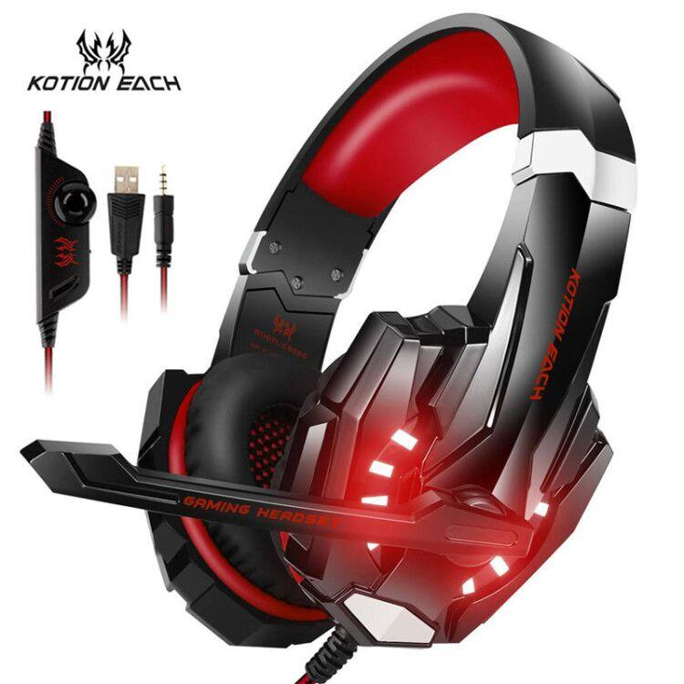 6e53933f5e0 KOTION EACH Pro G9000 3.5mm USB Gaming Headset Stereo Gamer Headphone With  Mic LED Light