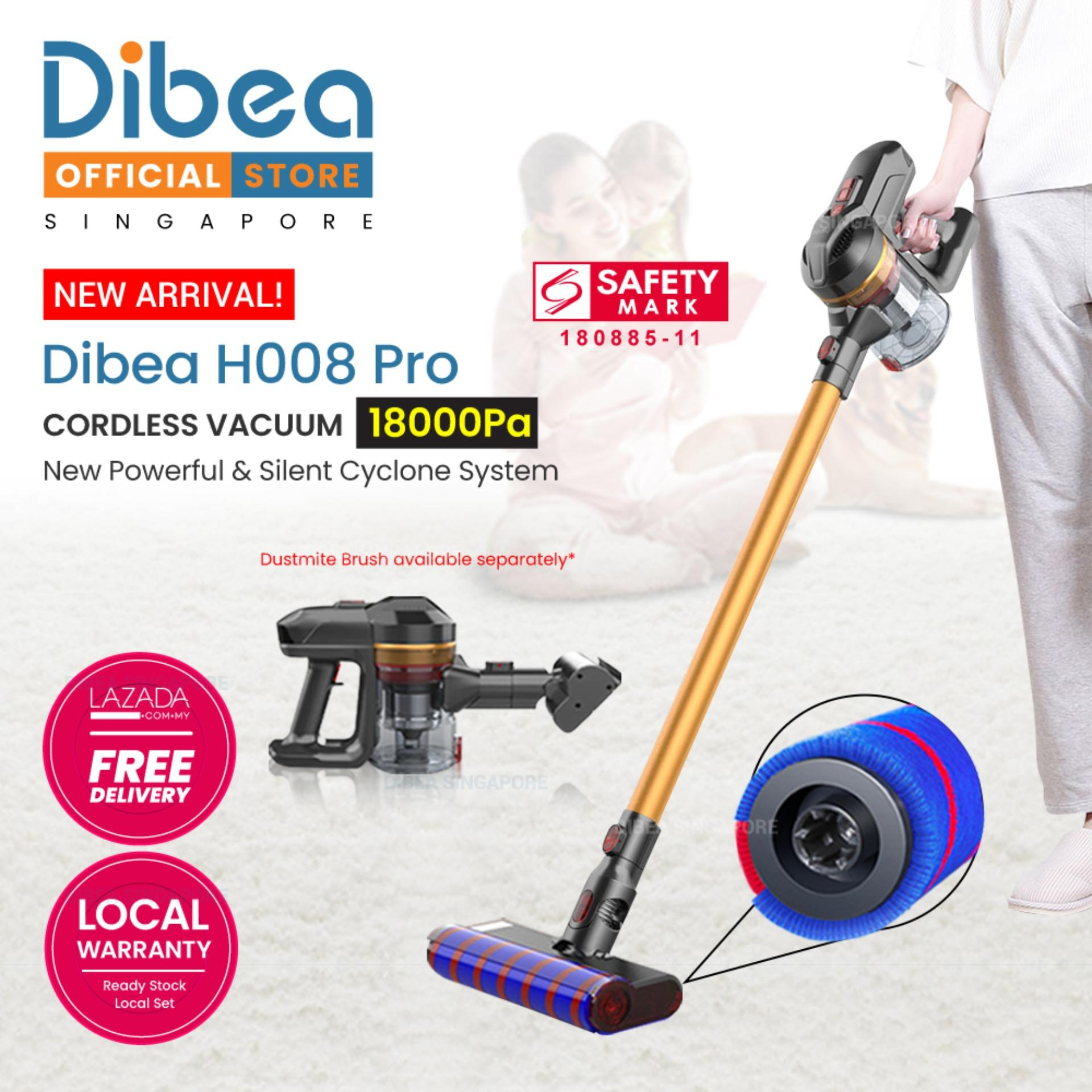 Dibea H008 Pro Cordless Vacuum Cleaner Handheld Stick Large Capacity Household Appliances With Vacuum Cleaner Brush By Dibea Singapore Pte Ltd.