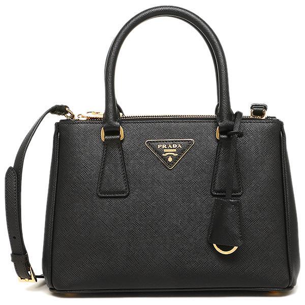 83440b07d075 NEW ARRIVAL PRADA Galleria Mini Saffiano Leather Bag Black 1BA896