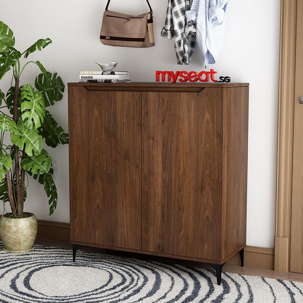 MYSEAT.sg KYLE Solid Wood Shoe Cabinet