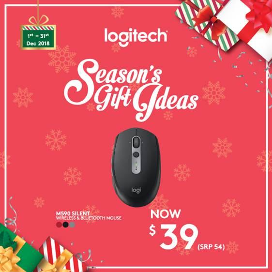 Logitech M590 Mid Grey Tonal Multi-Device Silent Wireless Mouse with Logitech FLOW Technology #SeasonsGiftIdea2018