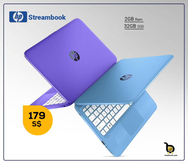 HP STREAMBOOK,Intel HD Graphic,32GB SSD, 2GB RAM,