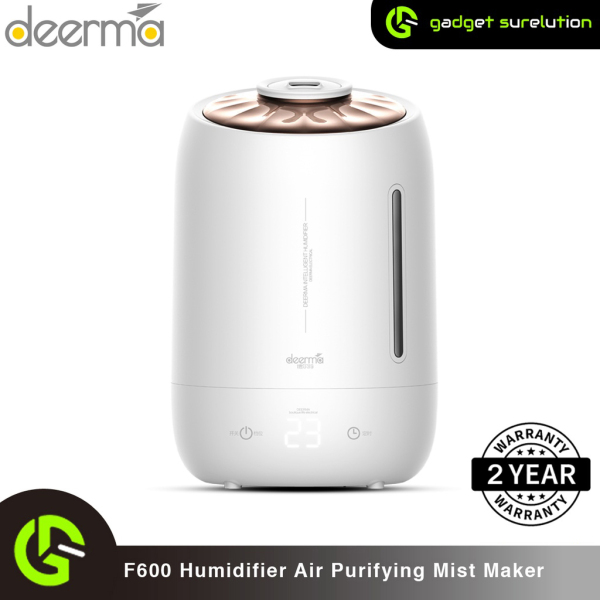 Xiaomi Deerma F600 Ultrasonic Humidifier 5L Three Gear Touch Temperature Intelligent Mist Maker Timing Function, White Singapore
