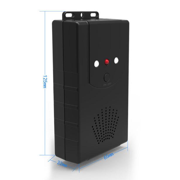 Ultrasonic Repeller Garden Car Hood Rodent Pest Repulsion Electronic Pest Repeller Black (Battery Version) Pc