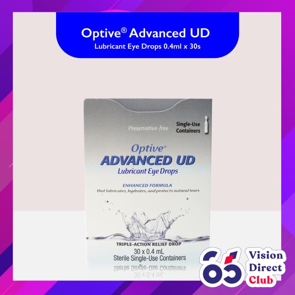 Buy Allergan Optive Advanced UD Lubricant Eye Drops 0.4ml x 30s Singapore
