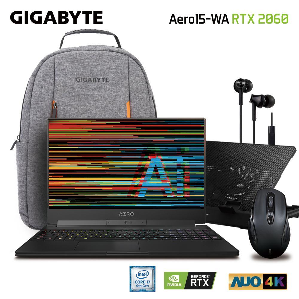 GIGABYTE AERO 15 Classic-WA UHD (i7-9750H/16GB SAMSUNG DDR4 2666 (8GB*2)/GeForce RTX 2060 GDDR6 6GB/512GB INTEL 760P PCIE SSD/15.6 Thin Bezel AUO UHD 4K IPS/WINDOWS 10 PROFESSIONAL) [Ships 2-3 days]