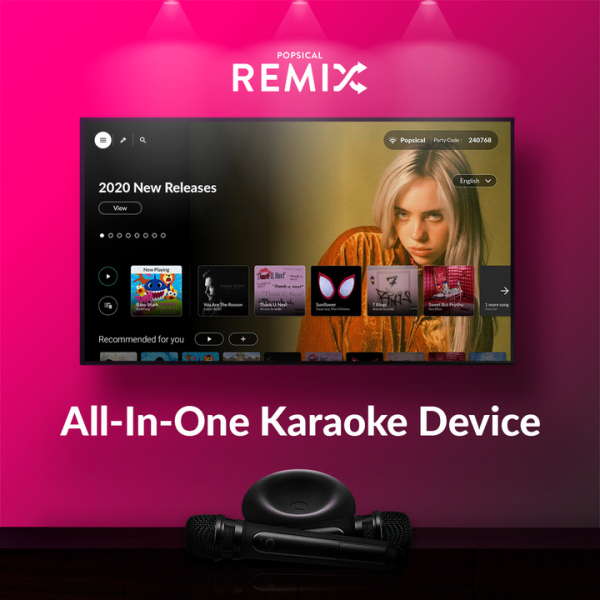 Popsical Remix Home Karaoke System with Mics Singapore