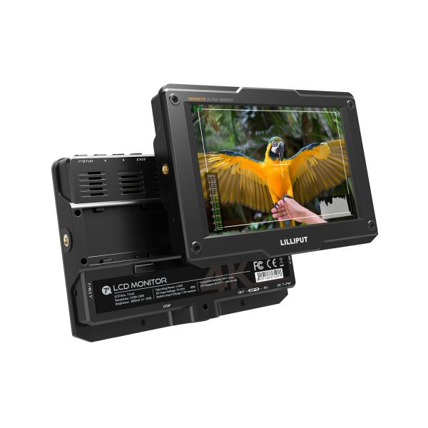 Lilliput H7 7 Inch Ultra Bright 1800Nit DSLR Camera Field Monitor Full HD 1920X1200 4K HDMI Input Output