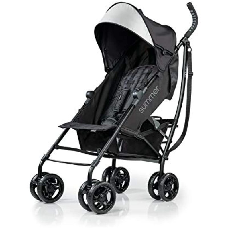 Summer Infant 3Dlite Convenience Stroller, Jet Black, 32843 Singapore