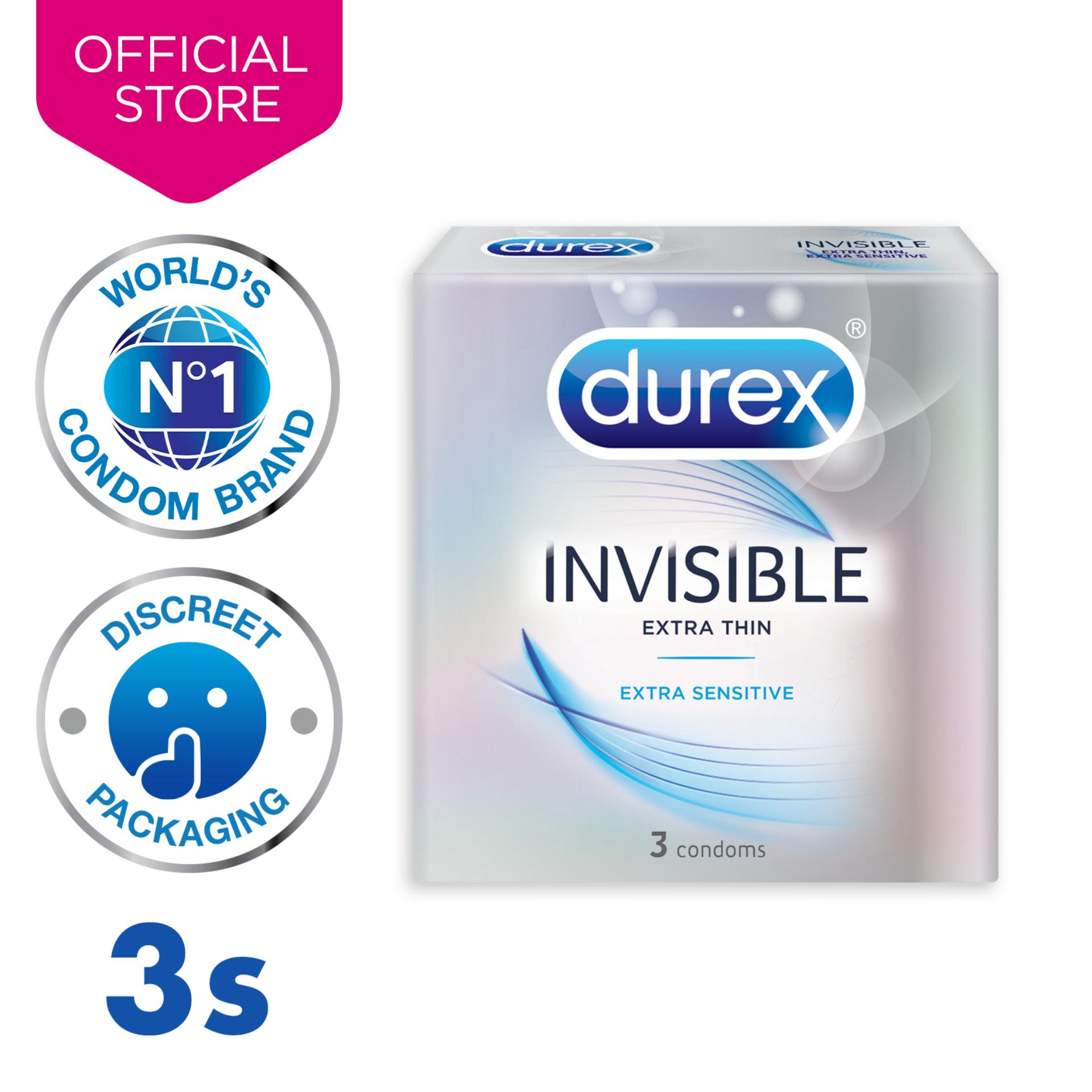 Durex Invisible Extra Sensitive Condoms (our Thinnest) X3 By Durex.
