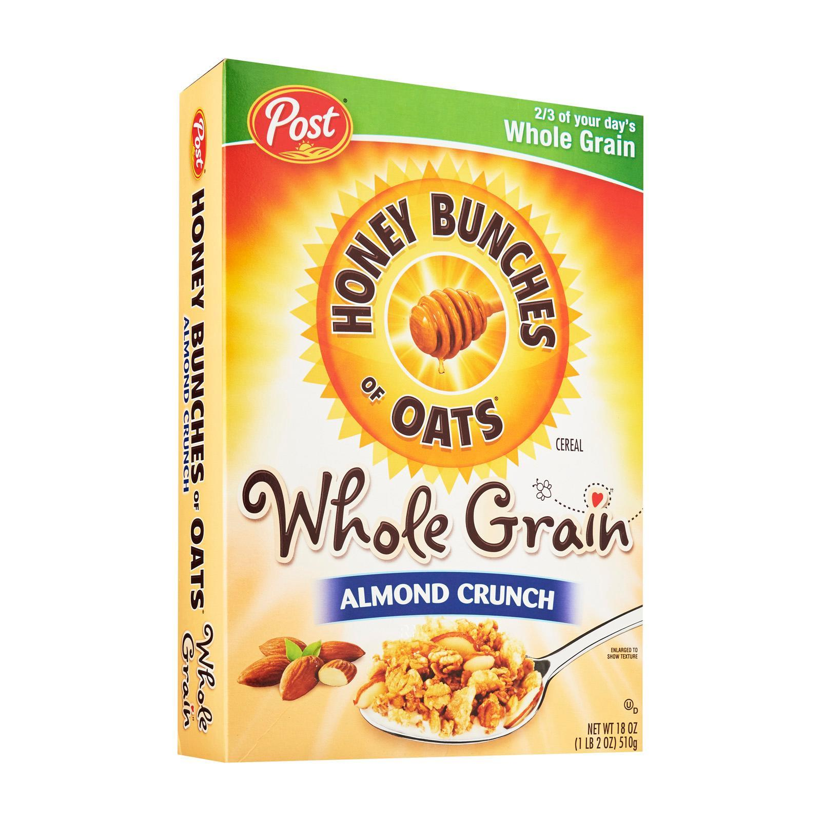 Post Honey Bunches Of Oats Wholegrain Almond Crunch Cereal