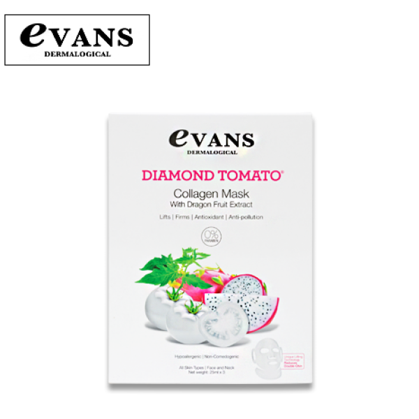 Buy Evans Dermalogical Diamond Tomato Collagen Mask with Dragonfruit Singapore
