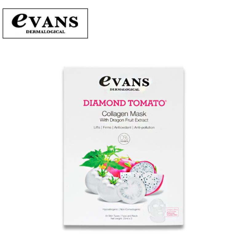 Buy Evans Dermalogical Diamond Tomato Collagen Mask with Dragonfruit Singapore