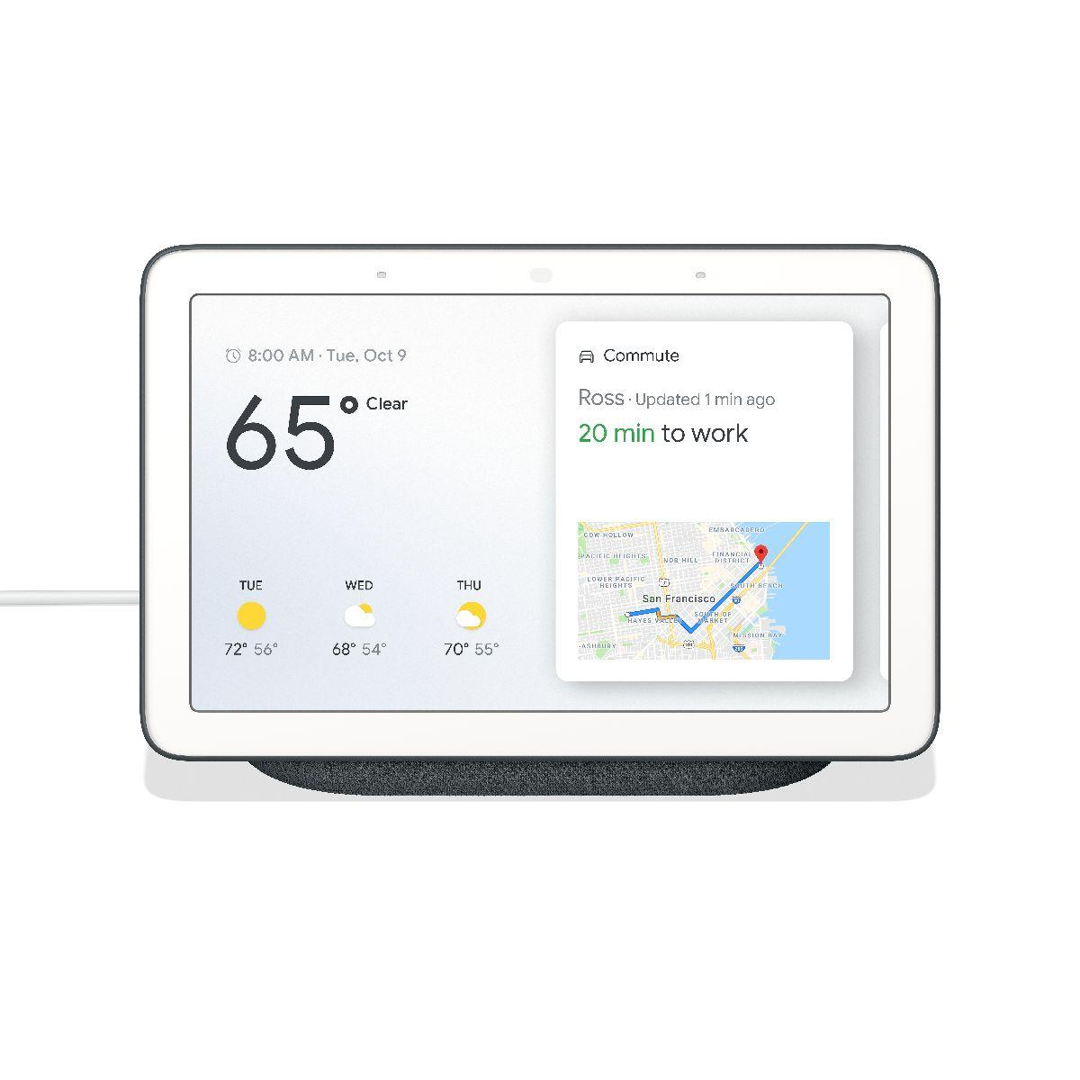 Google Home Hub Charcoal - Google Assistant with 7 Touchscreen Display