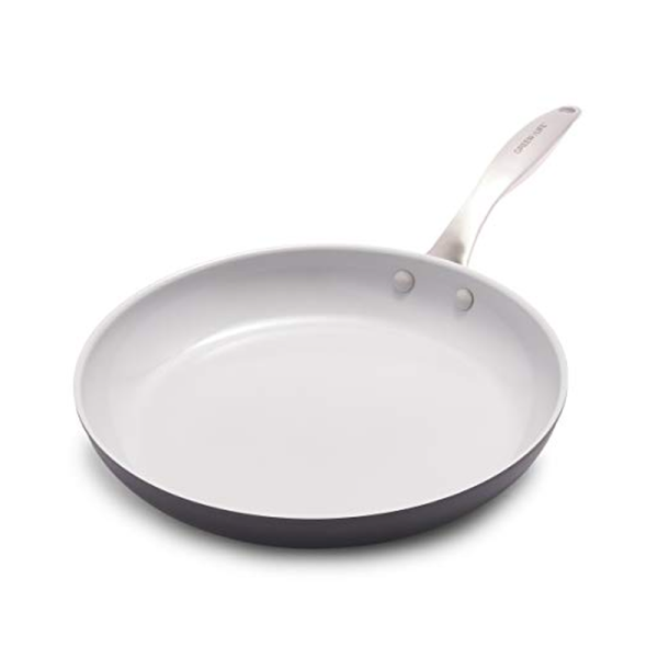 GreenLife Classic Pro Healthy Ceramic Nonstick, Frying Pan, 12, Light Gray [Ship From US] Singapore