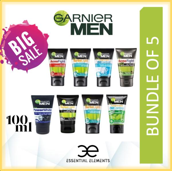 Buy GARNIER MEN [BUNDLE OF 5] CLEANSER/FOAM/FACIAL WASH/FACE WASH/TURBOLIGHT/OIL CONTROL/COOLING/ACNE/MATCHA/ACNO FIGHT/WASABI/POWER WHITE DUO/CHARCOAL Singapore