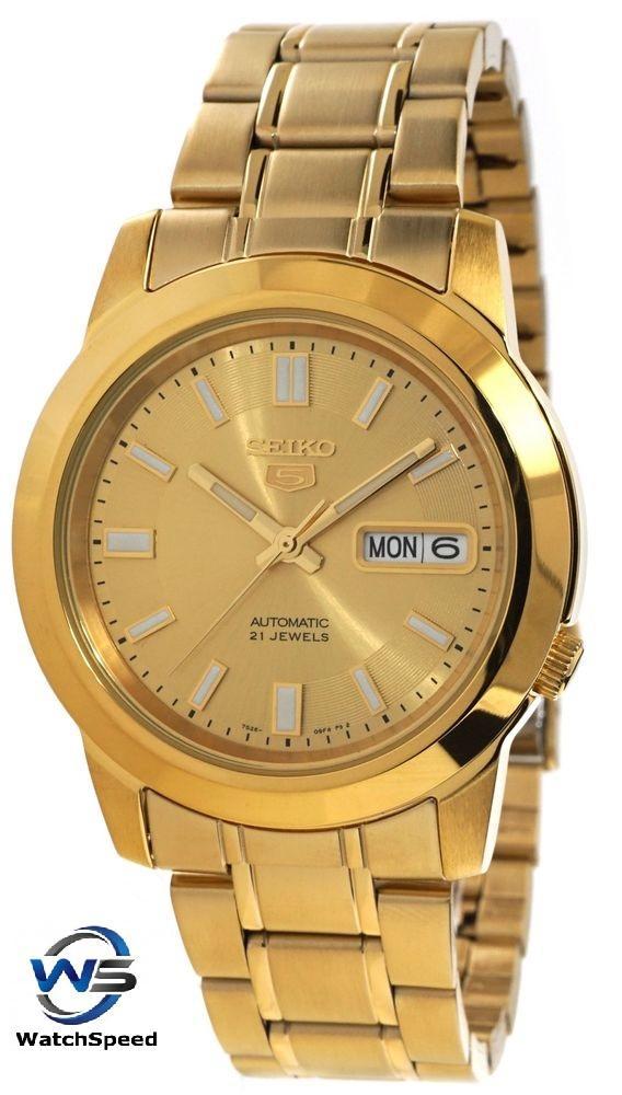 1c879fee5 Seiko 5 SNKK20K1 SNKK20K SNKK20 Automatic Gold Tone Stainless Steel Analog Men's  Watch