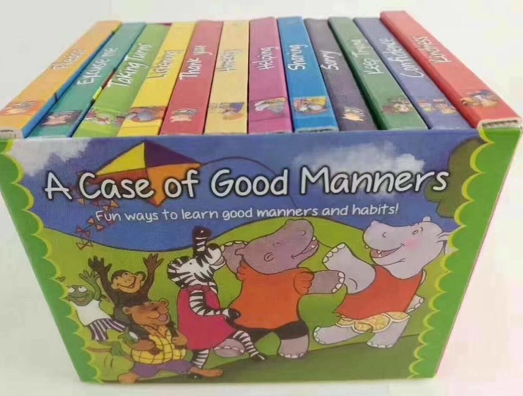 [Fast Shipping] A case of good manners boxset (12 mini board books) c1