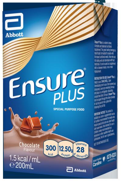 Buy ENSURE PLUS CHOCOLATE 200ML (CARTON) Singapore