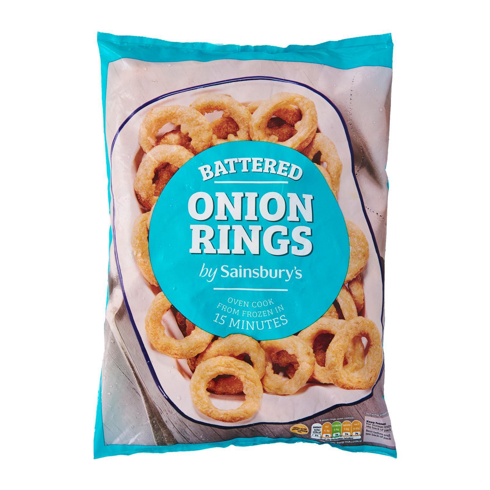 Sainsbury's Battered Onion Rings - Frozen