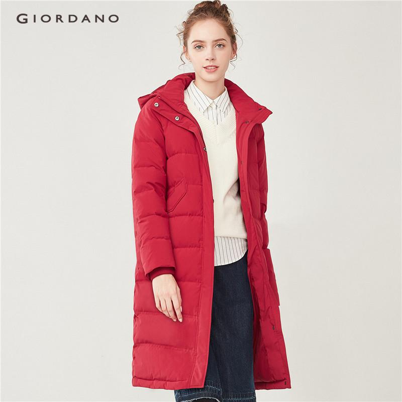 Giordano Women Hooded Multi-Pocket Long Down Jackets [free Shipping] 05378705 By Giordano Official.