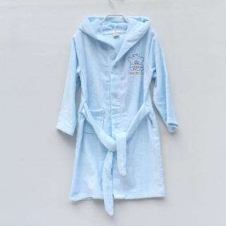 Khăn Tắm 100% Cotton Vải Áo Choàng Tắm Trẻ Em Áo Choàng Tắm 100% Cotton Có Khóa Có Mũ Bơi Lội Thấm Nước Dày Dặn thumbnail