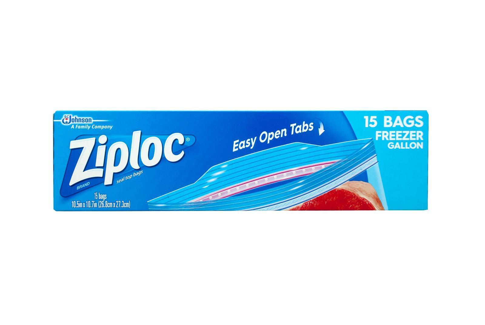 Ziploc Gallon Freezer Bags 26.8x27.9cm By Redmart.