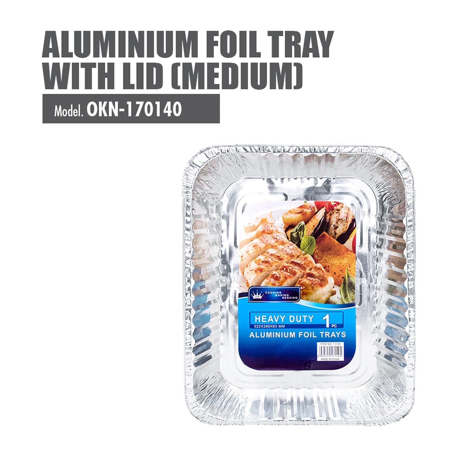 HOUZE Medium Aluminium Foil Tray With Lid - 322X266X63MM