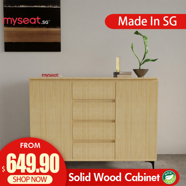 MYSEAT.sg MAISON Solid Wood Cabinet