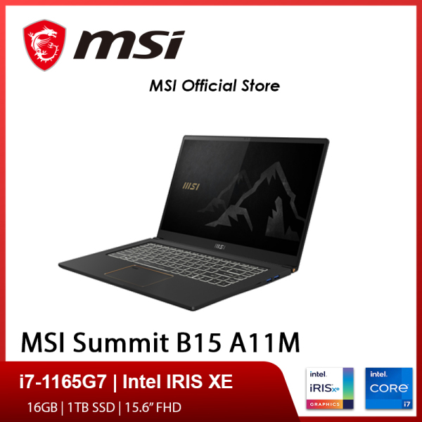 [Express Delivery]MSI Summit B15 A11M-044SG Laptop (i7-1165G7/16GB DDR4/1TB SSD/Intel Iris Xe Graphics/15.6FHD/W10P)-(2Y)