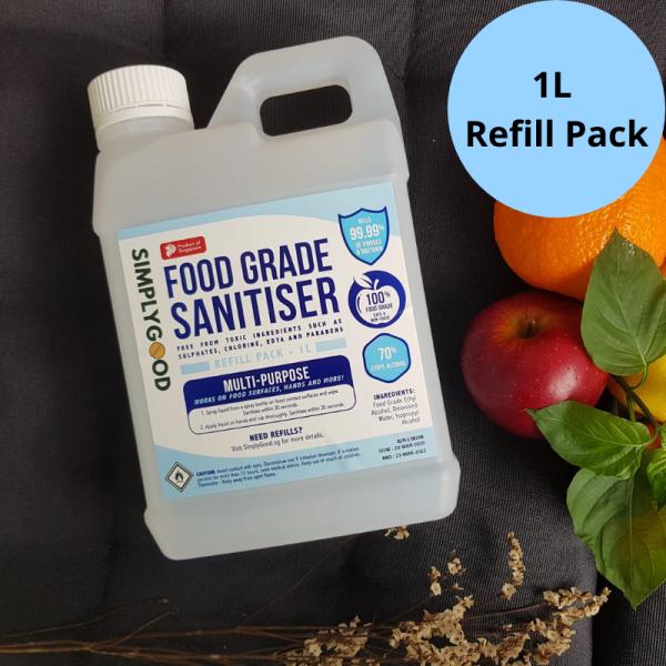 Buy SimplyGood Food Grade Sanitiser 1L Refill Pack Singapore