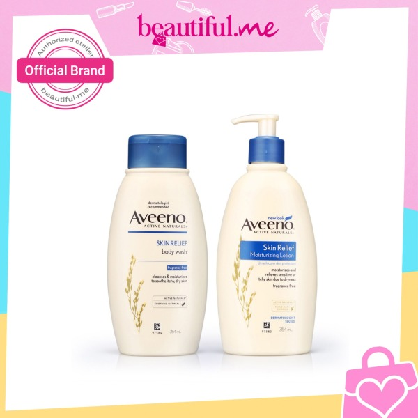 Buy Aveeno Body Wash Skin Relief 354ml + Aveeno Moisturizing Lotion Skin Relief 24 Hr 354ml Singapore