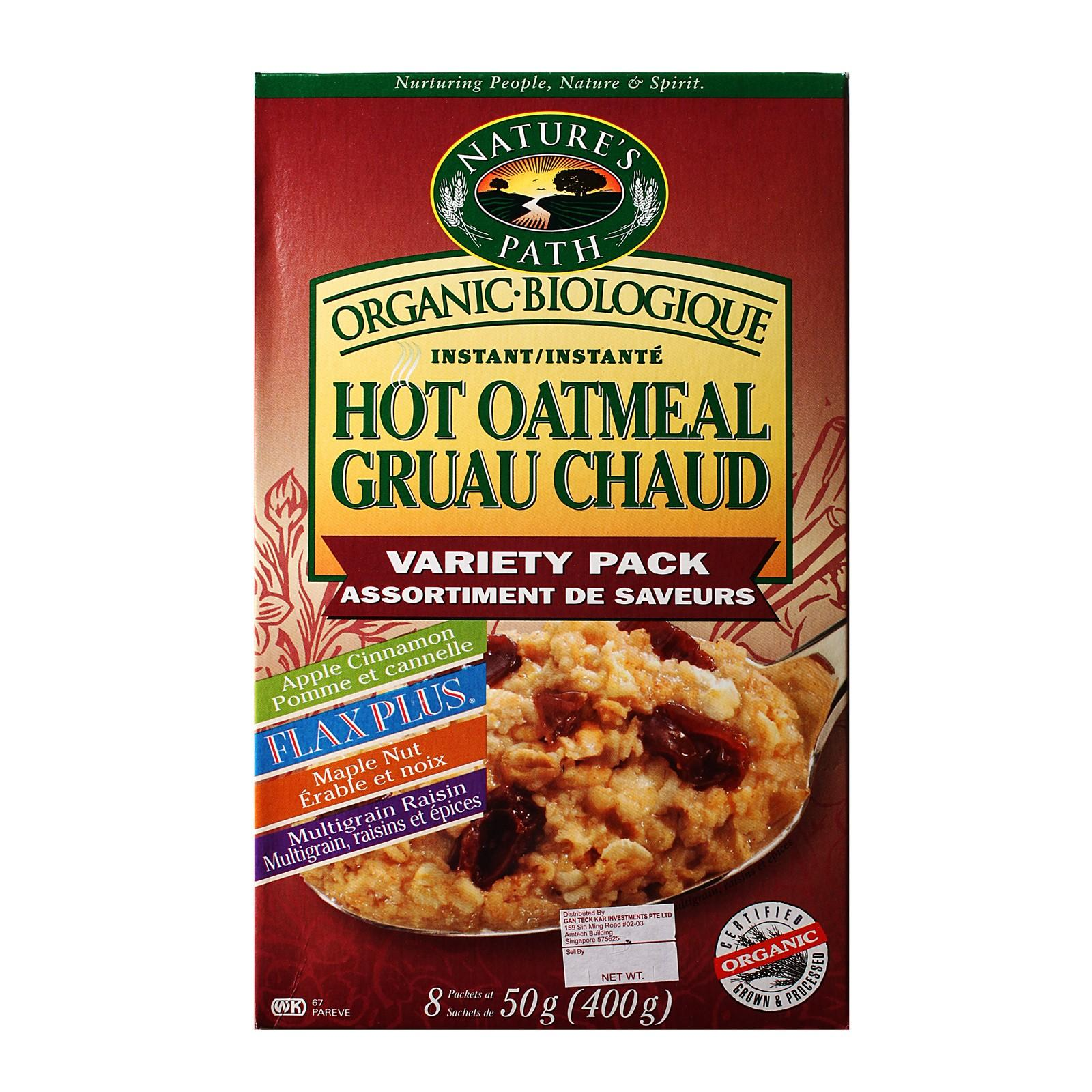 Nature's Path Organic Variety Pack Instant Hot Oatmeal