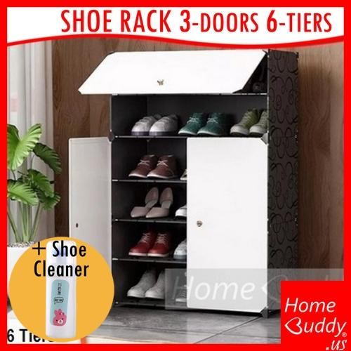 Shoe Rack [plastic panel. LARGE. 18 to 24 pairs of shoes] [DIY]_ READY Stocks SG. Reach you 2 to 4 work days_ HomeBuddy_ Acev Pacific