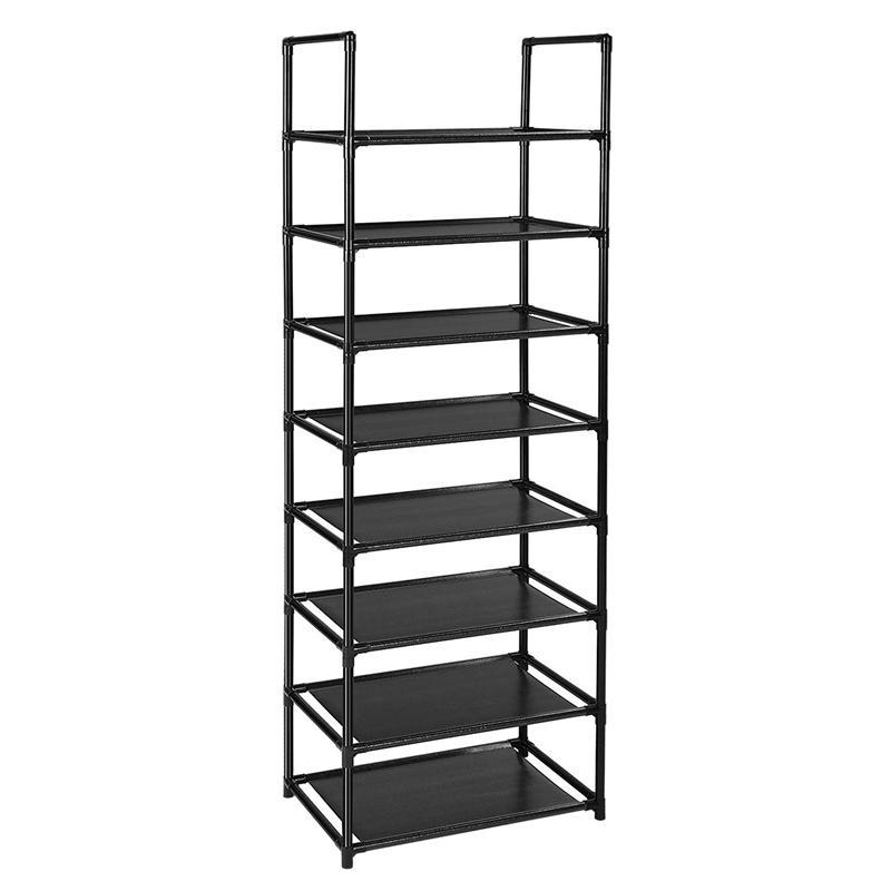 Multifunctional 8 Tiers Shoe Rack Sturdy Shoe Shelf Cabinet Large Stackable Shelves Holds Shelf for Shoe Book Home Storage Organizer