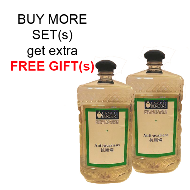 Buy BUY MORE FOR EXTRA FREE GIFTS. LAMPE BERGER LB ESSENTIAL OIL 2L SET (2 BOTTLES) - ANTI-ACARIENS (防璊) Singapore
