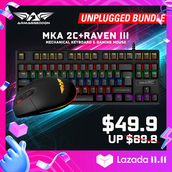 Recruit Bundle - Mechanical Gaming Keyboard and Gaming Mouse Combo MKA-2c + Raven III [Armaggeddon 10th Anniversary X Lazada 11.11 Exclusive] Singapore