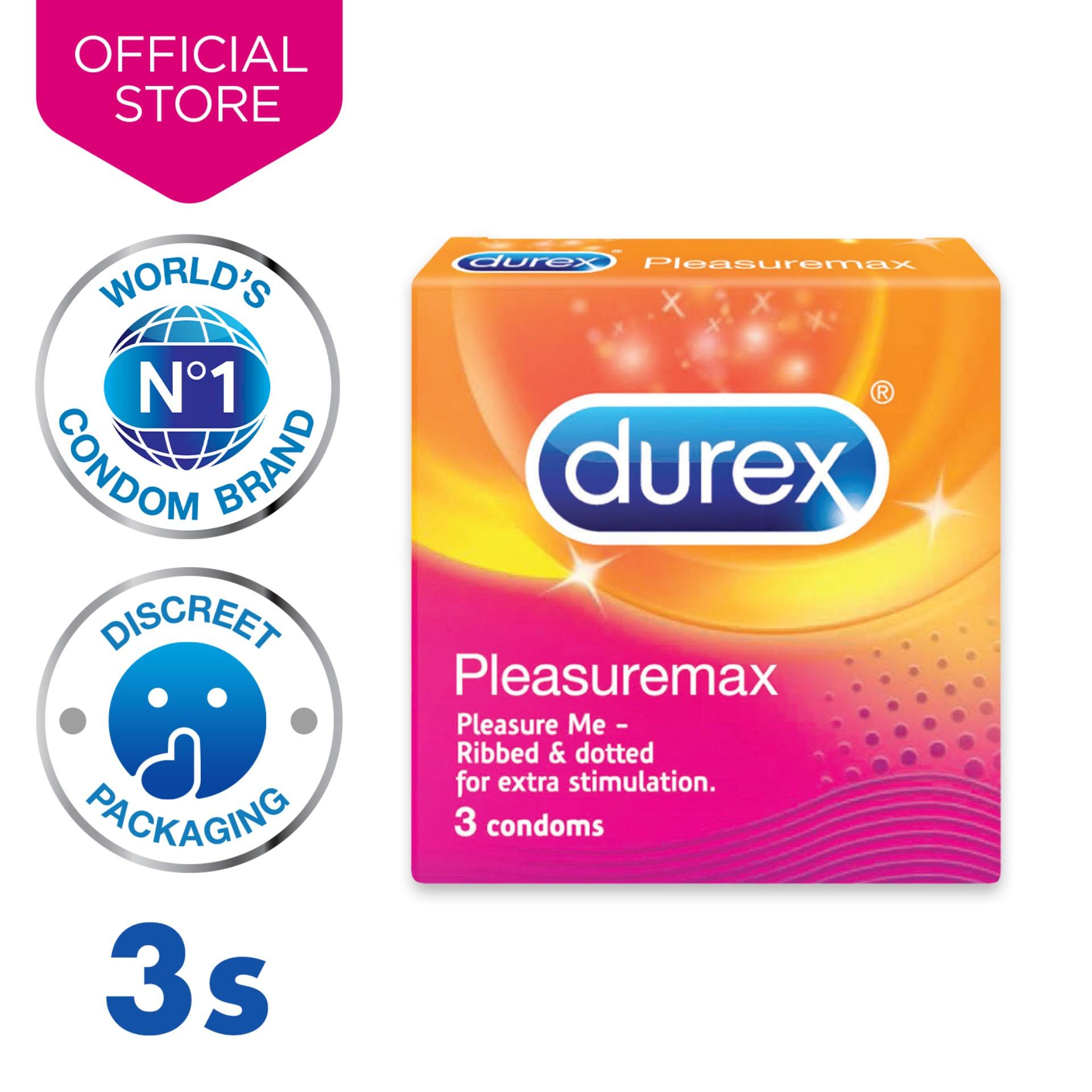 Durex Pleasuremax Condoms (with Ribs & Dots) X3 By Durex.