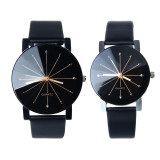 1Pair Men And Women Quartz Dial Clock Leather Wrist Watch Black Price