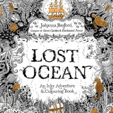 1PCS-Lost Ocean 2016 New Secret Garden An Inky Treasure Hunt and Coloring Book for Children Adult Relieve Stress Kill Time Graffiti Painting Drawing Book - Intl