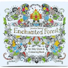 1pcs-The Enchanted Forest  2016 New Secret Garden An Inky Treasure Hunt and Coloring Book for Children Adult Relieve Stress Kill Time Graffiti Painting Drawing Book - Intl