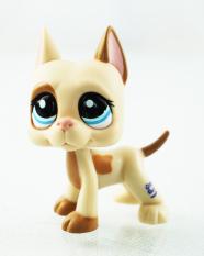 2'' Great Dane Dog Tan Cream Pink Ear Kids Toys Littlest Pet Shop LPS