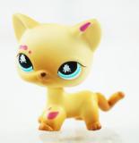 Sale 2 Messiest Cream Tan Cat Littlest Pet Shop Lps 816 Kitty Kids Toys G*rl Toys Blue Star Eyes Intl Online On China