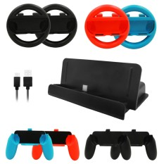 Compare 10 In 1 For Nintendo Switch Accessories Set 4 Pcs Joy Con Controller Wheel 4 Pcs Grip Handle 1 Pcs Console Charge Stand 1 Pcs Usb Cable Intl