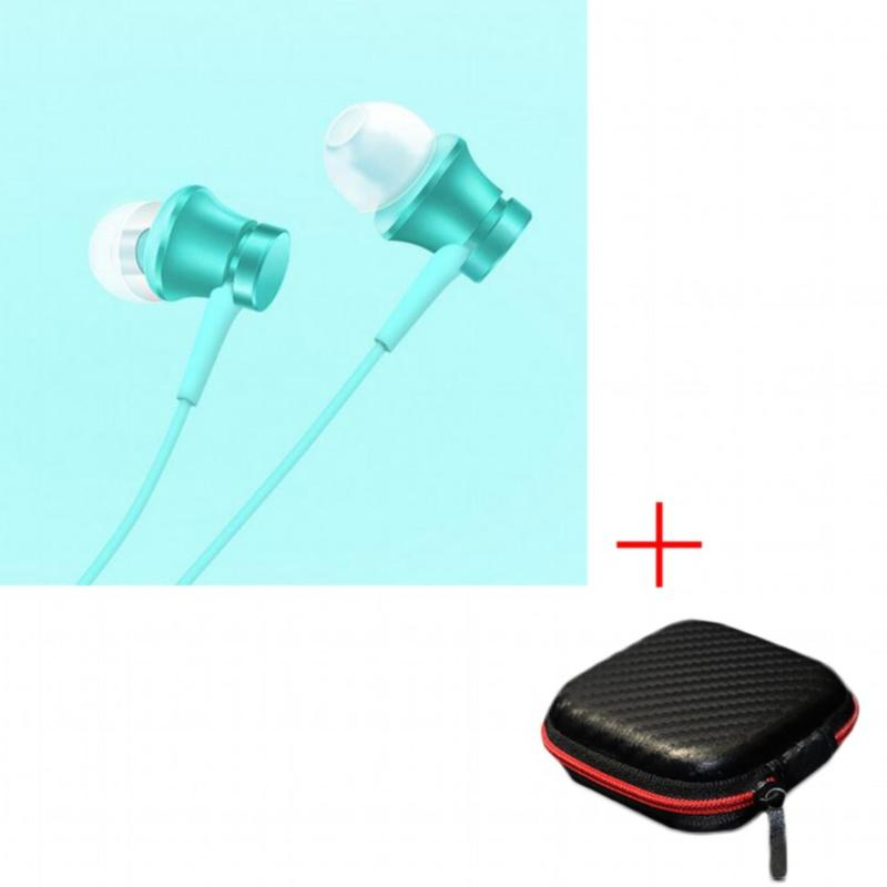 100% original Xiaomi Mi Earphone Piston Fresh Version In-Ear 3.5mm Colorful Earphones with Mic For Mobile Phone MP4 MP3 PC With Earphone Box - intl Singapore