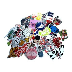 100pcs Waterproof Laptop Motorcycle Skateboard Luggage Graffiti Bumper Stickers (Type H - Random Patterns) - intl