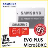 Discount Samsung 64Gb Evo Plus Microsd Card 100 Mb S Sd Adapter