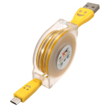 Buy 10Pcs 1M Visible Retractable Led Light Micro Usb 2 Data Synccharger Cable For Phone Yellow Intl On China
