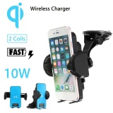 10W Qi Fast Wireless Car Charger Windshield Dashboard Holder Mount For Samsung Intl Lower Price